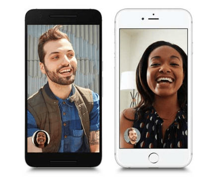 Duo designed for video call between Android and iOS.
