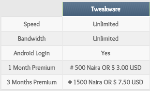 Tweaware VPN Pricing & Plans