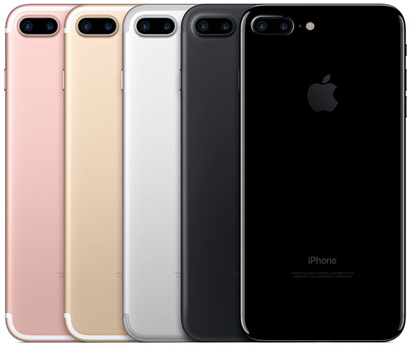 iPhone 7, iPhone 7 Plus colors