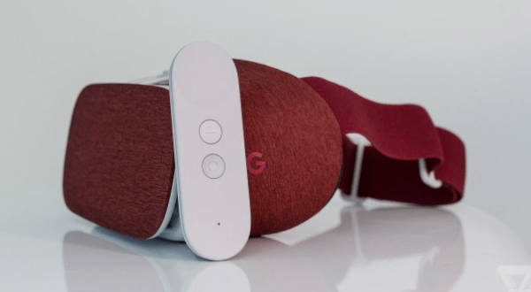 Google's Daydream view VR headset with controller