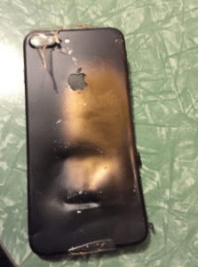 iPhone 7 plus battery explosion