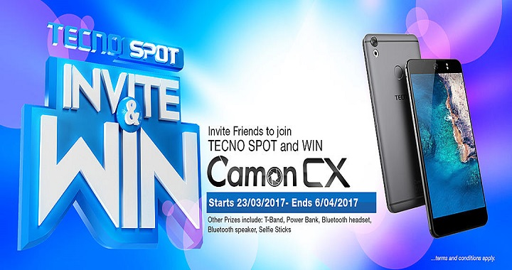 You Can Be A Lucky Winner Of The Latest Tecno Camon CX Phones