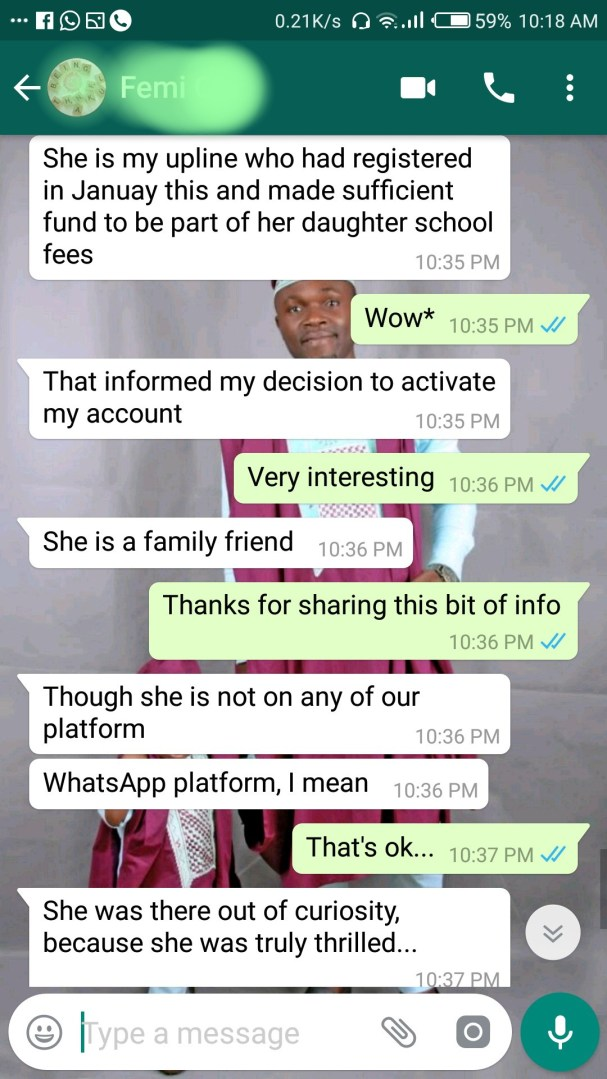 Mandee Thrills office visitors confirms winthrills is not a Ponzi scam