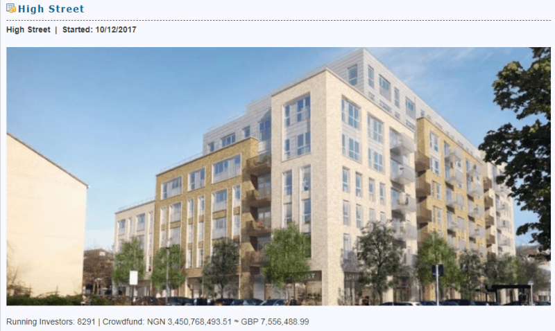 Winthrills real estate crowdfunding on High Street Group