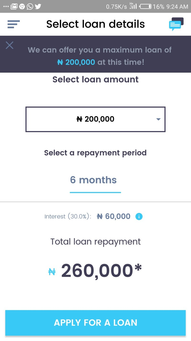 My loan from PayLater, fees and interest rates