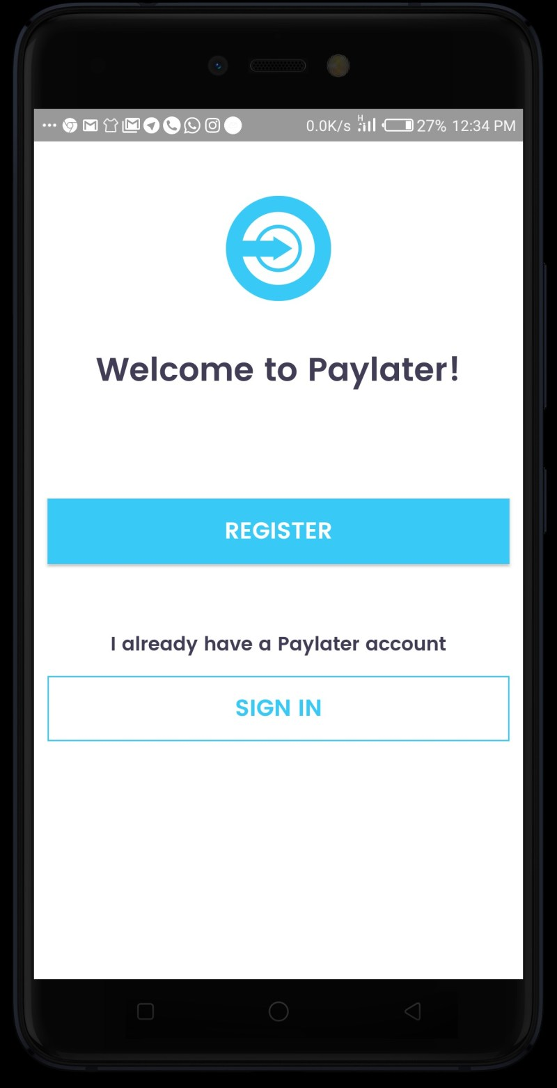 Welcome to PayLater app