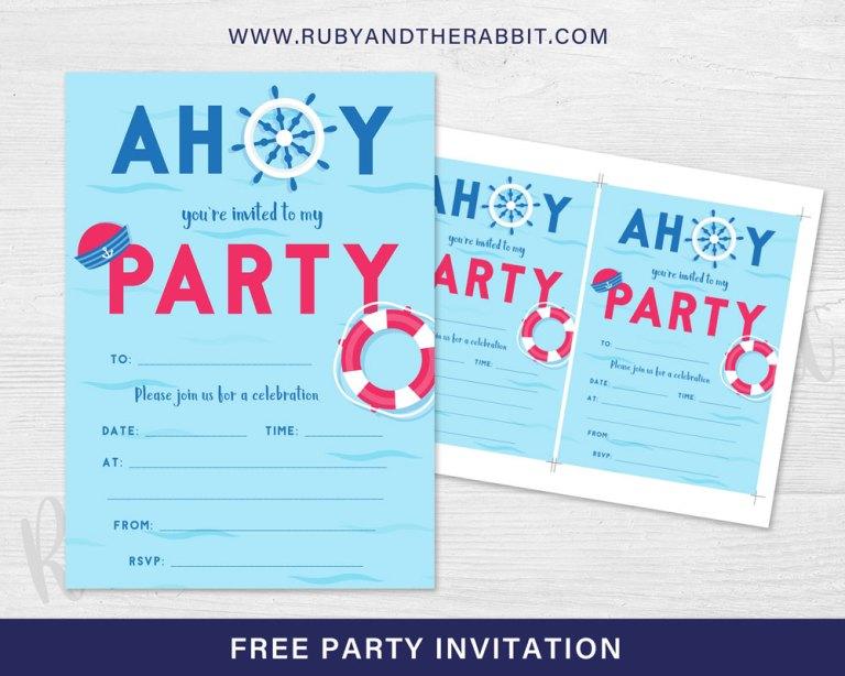 FREE Nautical Party Invitation