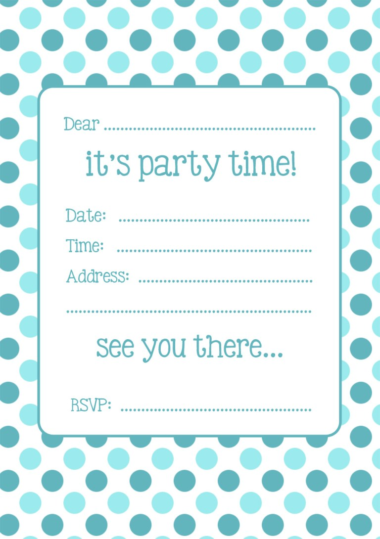 Two FREE Spotty Party Invitations