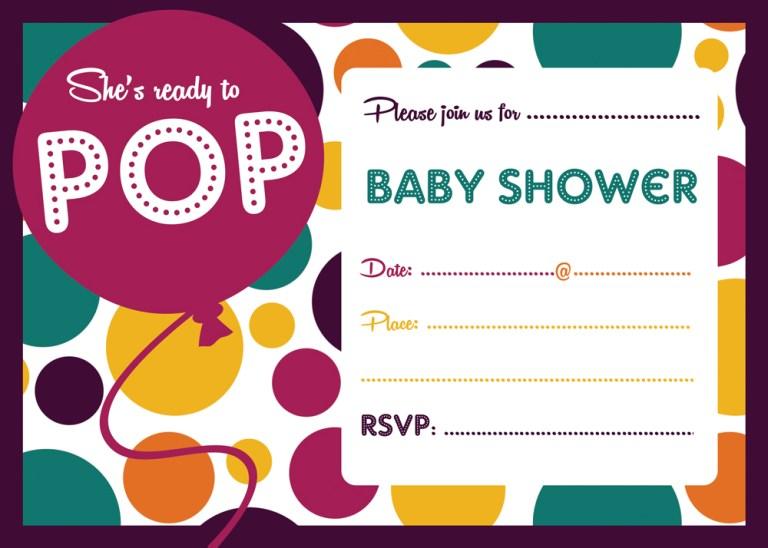 FREE Ready to POP Baby Shower Invitation