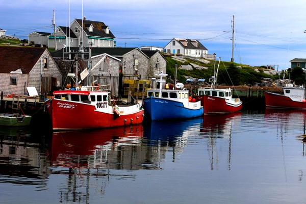boats at peggys cove