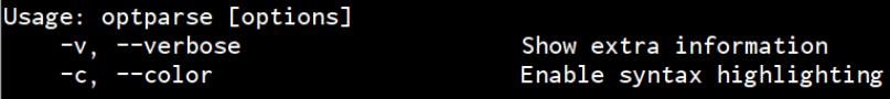 Ruby Optparse