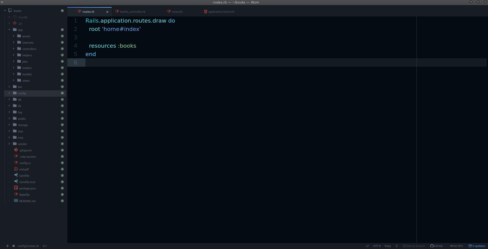 Ruby Atom Editor