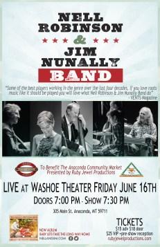 Nell Robinson & Jim Nunally Band at Washoe Theater