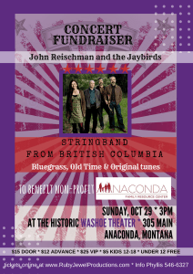 John Reischman and the Jaybirds in Concert - Oct 29 in Anaconda, MT