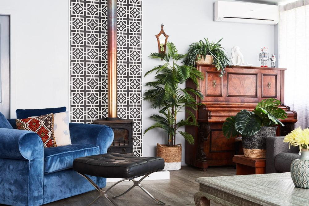 Designer Alida and Miller don't shy away from statement pieces or quirky furnishings creating a layered environment which invites the viewer look more than once.