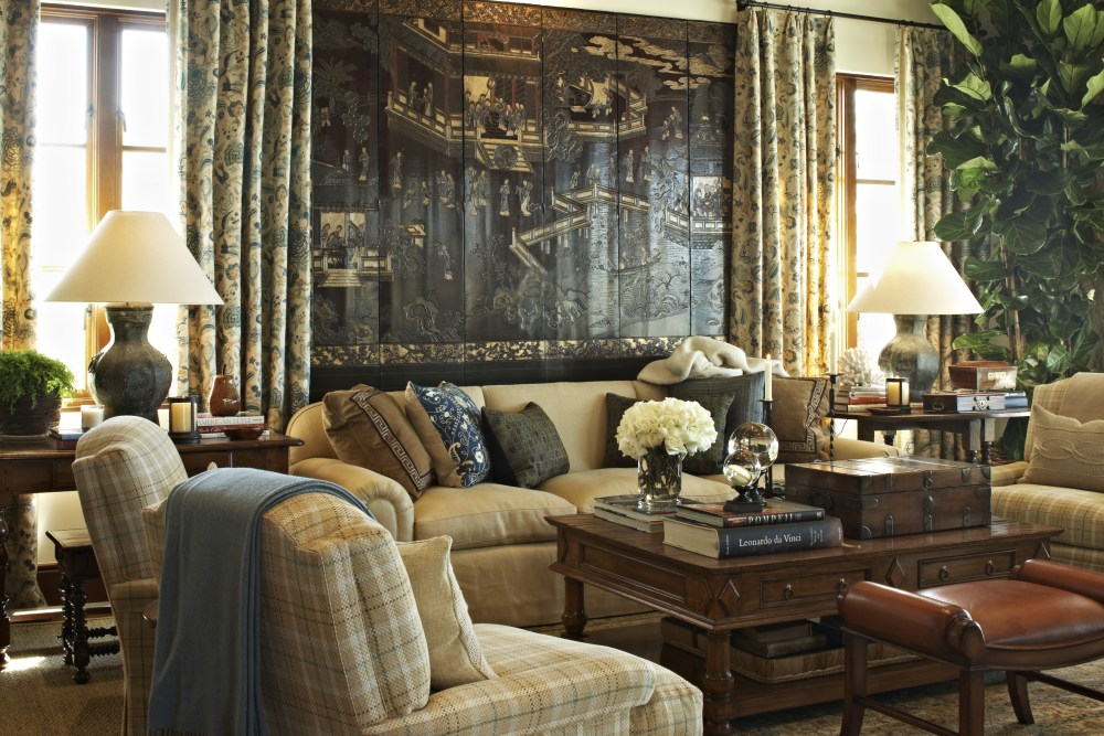 "David loves using antiques in his designs because ""they tend to be pieces that make a person stop and look for a little while, think about it's history, age, maybe a previous owner."""