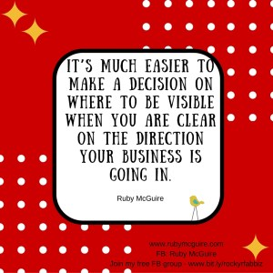 Be Clear On Biz Direction #Vision