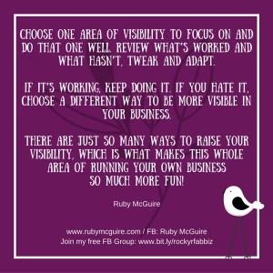 Choose One Area of Viz #Focus