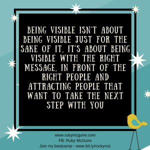 Visible With Right Msg #Mktg