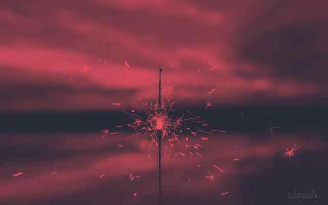 A sparkling firecracker