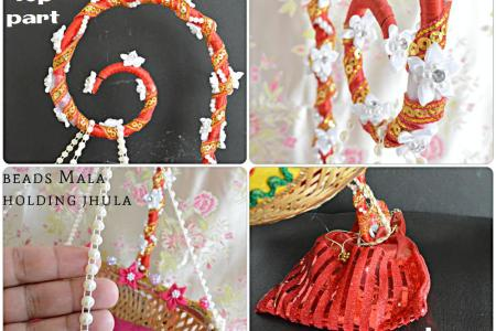 How to make Janmashtami Jhula at home Step by step process on how to make Janmashtami Jhula at home