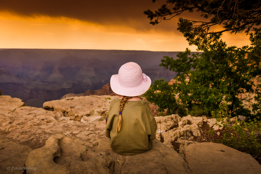 Grand Canyon solnedgång, Arizona