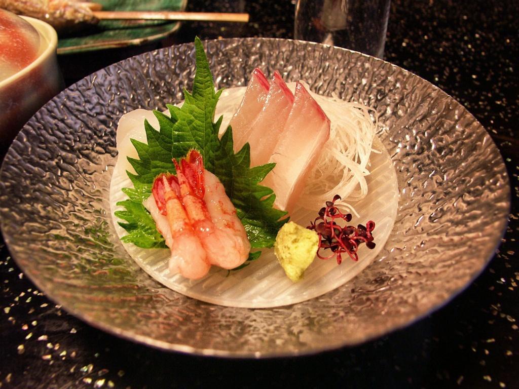 Sashimi på ryokan - Takayama - Japan