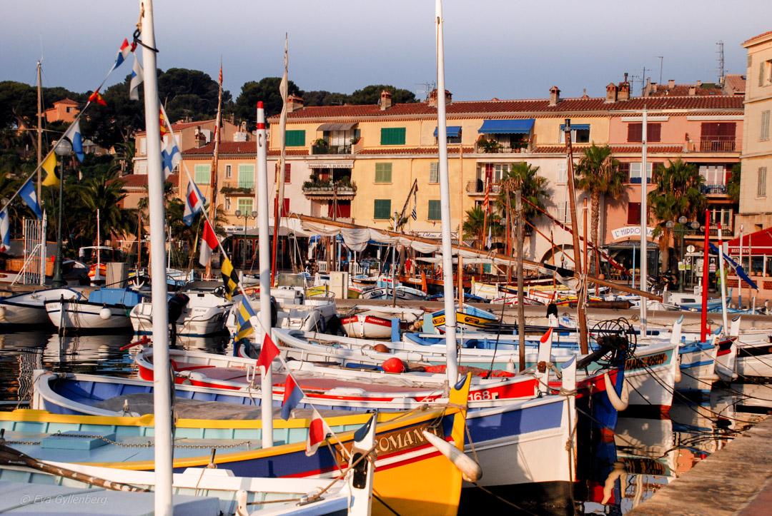 Hamnen i Bandol-Provence