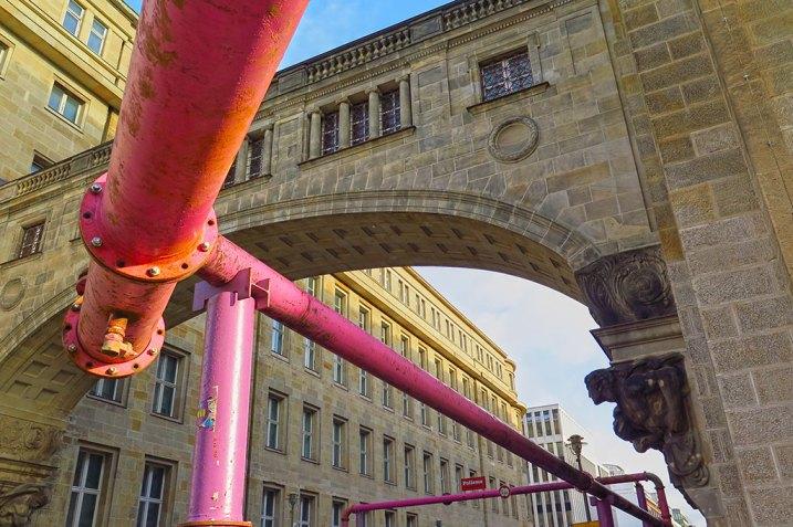 Rosa rör i Berlin