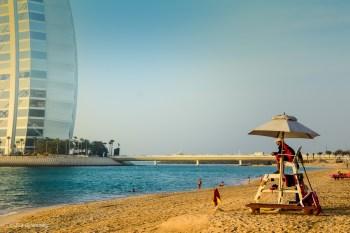 Stranden vid Burj Al-Arab - UAE