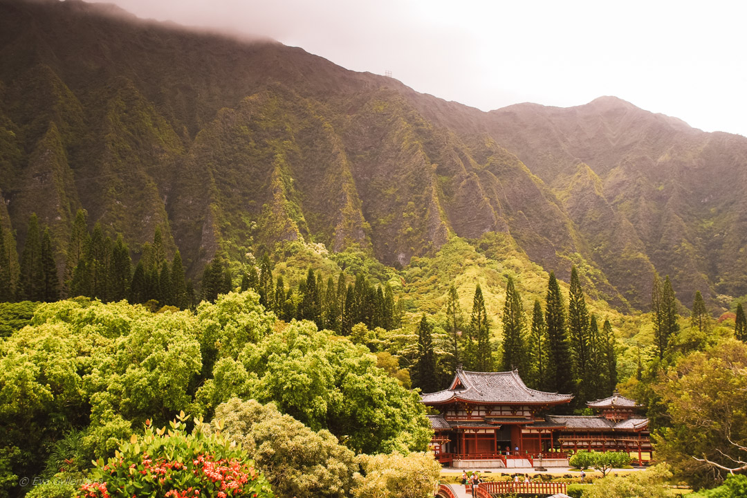 Byodo-In templet i Valley of the temples