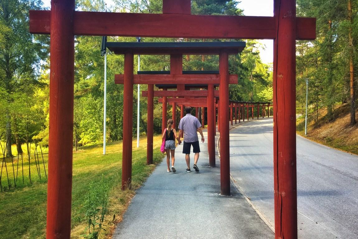 Torii på väg till Yasuragi