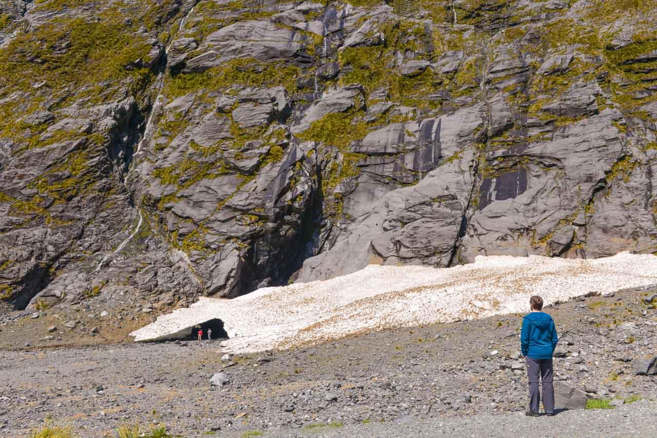 Glaciär på vägen till Milford Sound