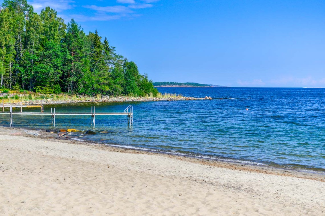 White sandy beaches in Norrland