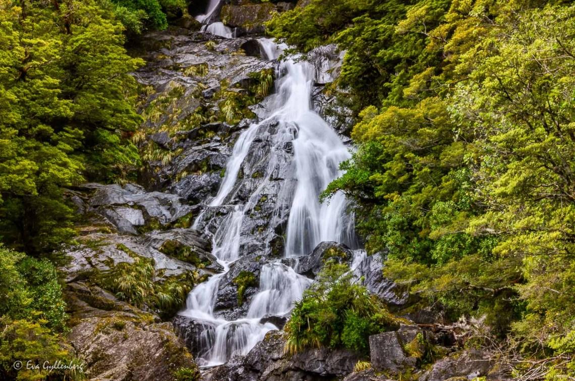 Vattenfall i Mount Aspiring