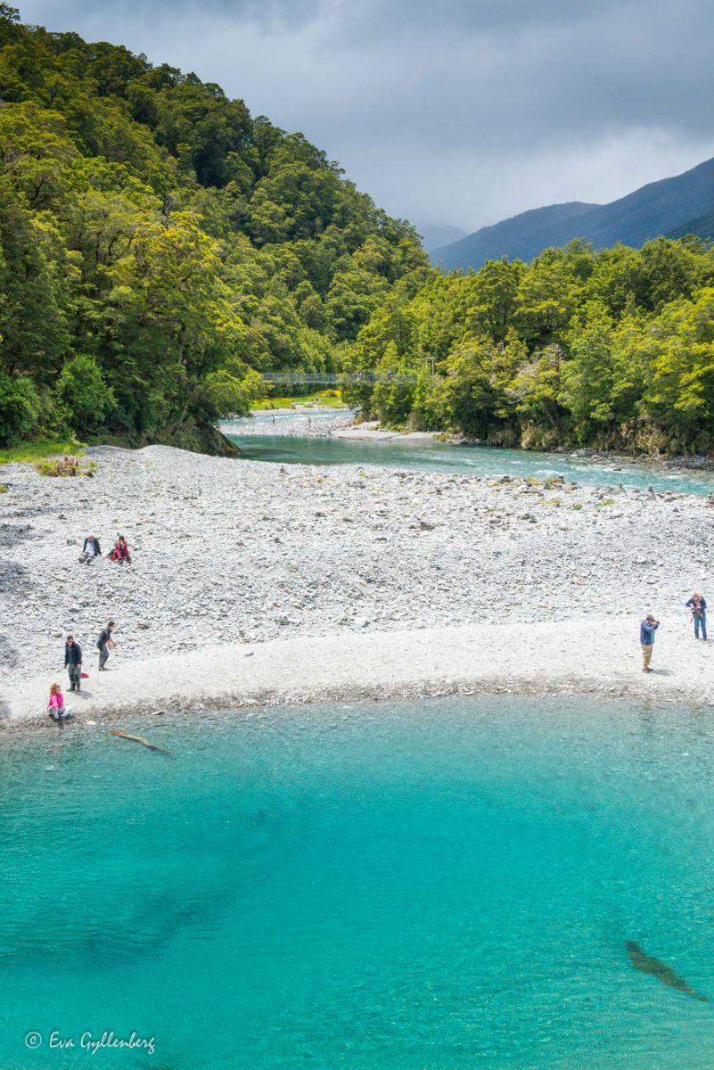 Blått vatten i Mount Aspire
