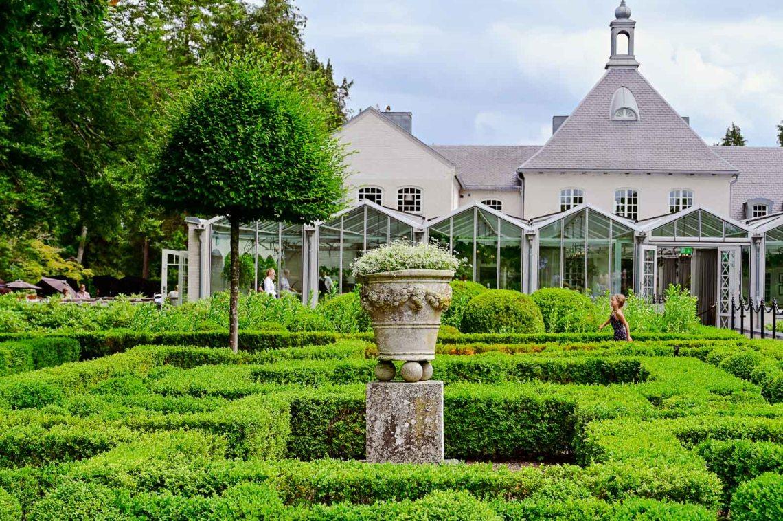 Terracotta pot in the baroque garden