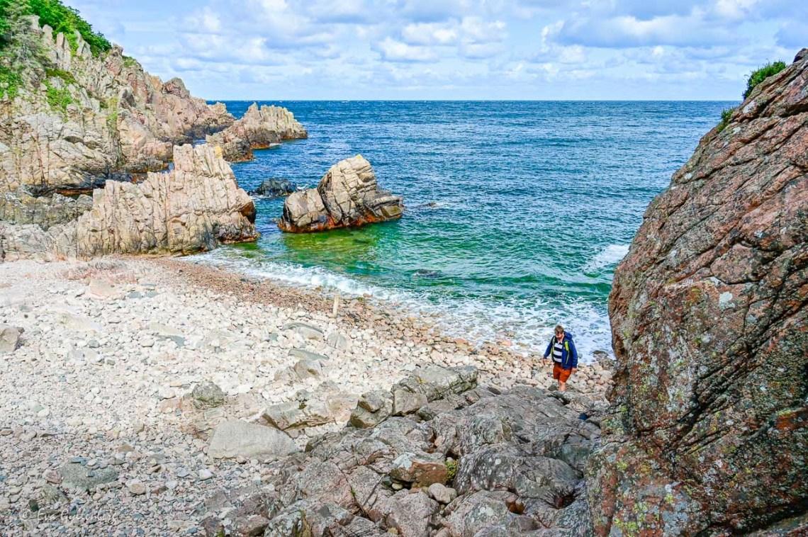 Rocky beach with blue sea