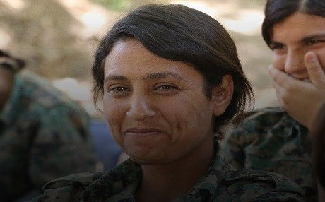 Photo published by YPG shows a Kurdish female fighter said to have been killed by Turkey-backed Syrian militia on January 30 in a village north of Afrin, Syrian Kurdistan. Photo: YPG Press