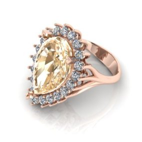 Pear Shaped Yellow Sapphire Ring