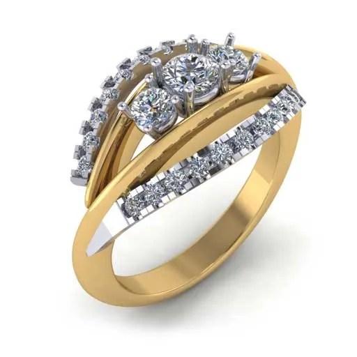 custom design ring - 3 Stone Ring