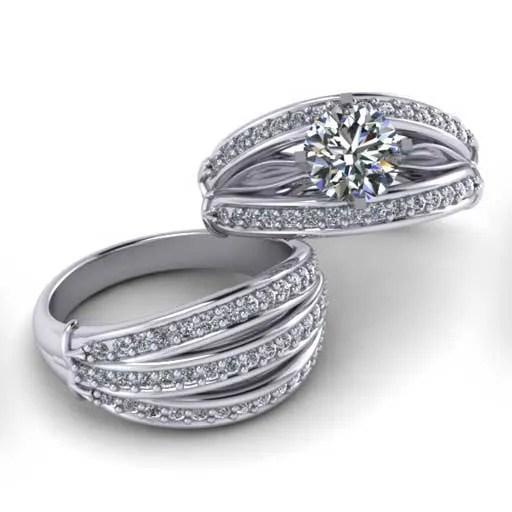 custom design ring - Bridal Set