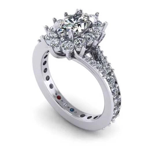 custom design ring - Halo Engagement Ring
