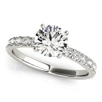 Single Row Engagement Ring