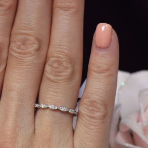 marquis shaped eternity band