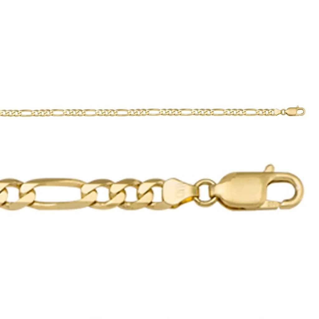 yellow gold hollow figaro chain