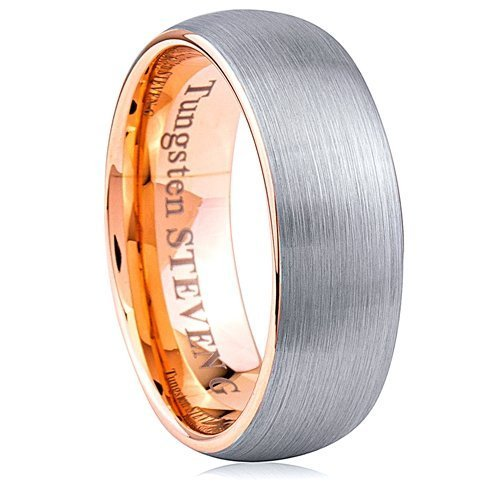 Two Tone Tungsten Ring