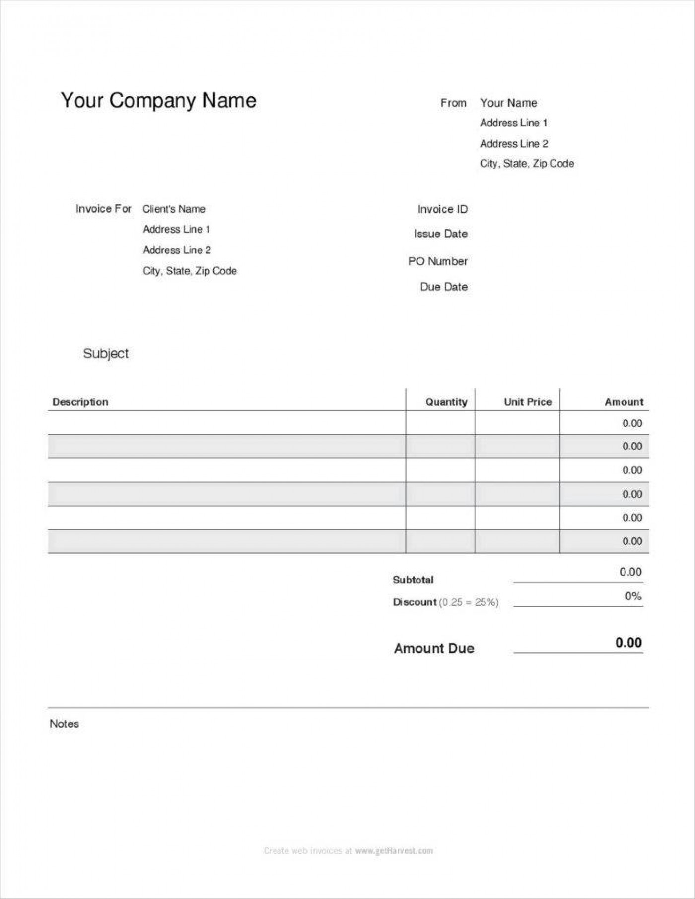 Pest Control Contract Template