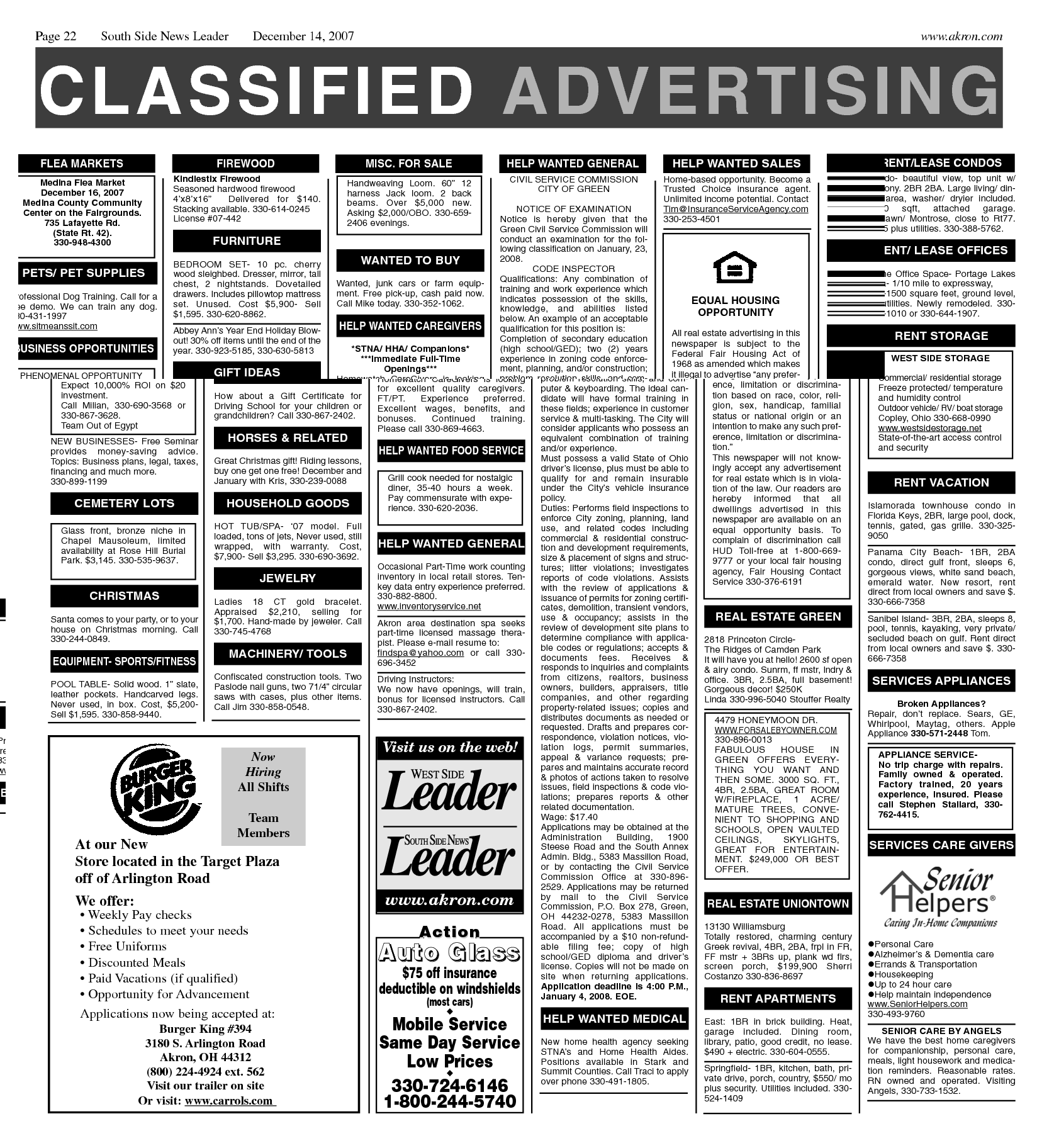 Newspaper Classified Ad Template