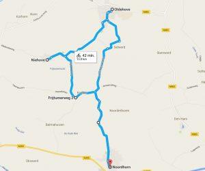 Fietsroute Noordhorn, Oldehove, Niehove